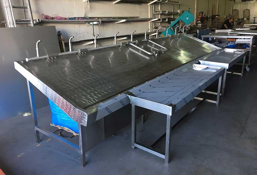 Fabricación de mobiliario inox para pescaderías