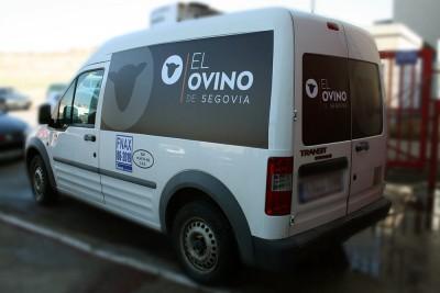 Rotulación furgoneta El Ovino lateral 1