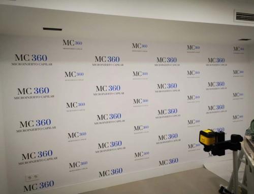 Revestimiento de paredes con motivos promocionales