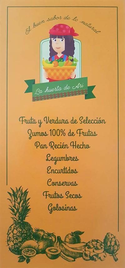 Flyer La Huerta de Ari portada