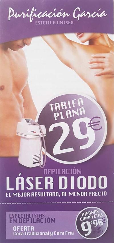 Flyer Purificación García Laser Diodo portada