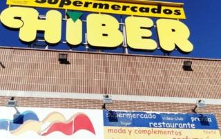 Rótulo luminoso gigante para Supermercados HIBER
