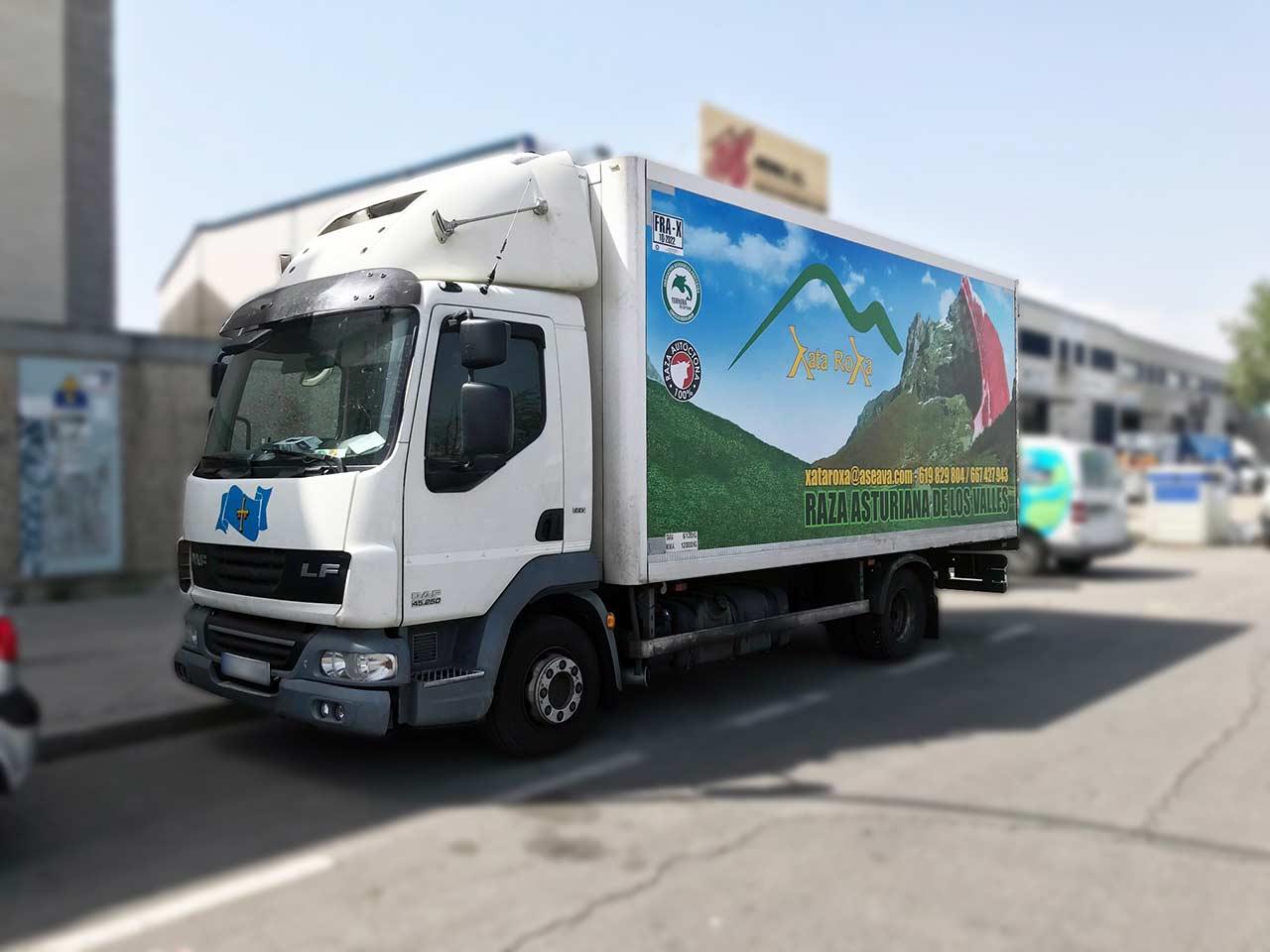 Rotular camión en Madrid Vallecas