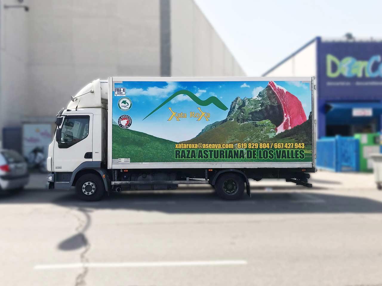 Rotular camión en vallecas